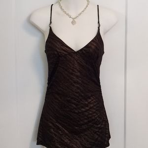 🆕 Black and Bronze Guess V-Neck Tank Top